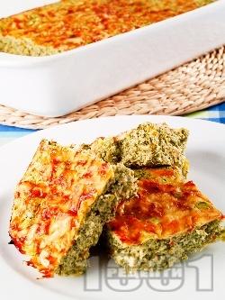 Зеленчуково суфле с тиквички, спанак, сирене и яйца - снимка на рецептата